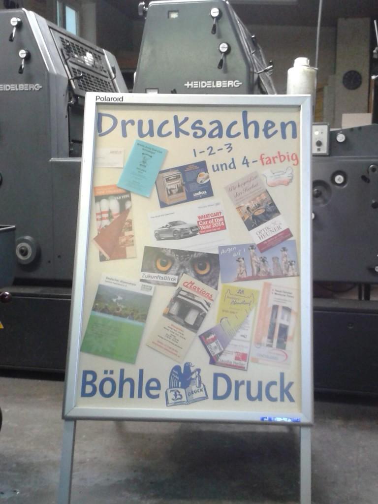 Plakate und Flyer Böhle Druck